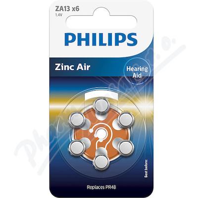 Baterie do naslouchadel PHILIPS ZA13B6A 6ks