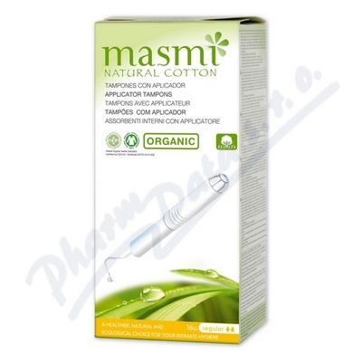 Tampony MASMI REGULAR s aplikát.z org.bavlny 16ks