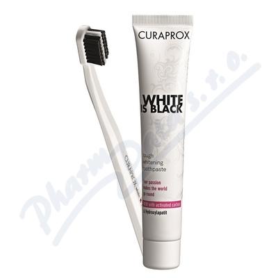 CURAPROX White is Black set (pasta90ml+ZK CS 5460)