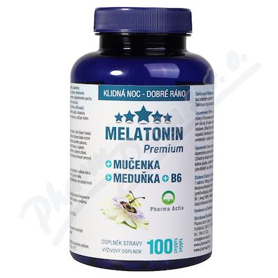 Melatonin Premium Mučenka Meduňka +B6 100 tablet