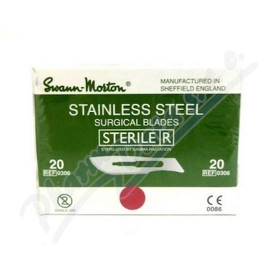 Čepelka skalpelová steril.č.20 100ks