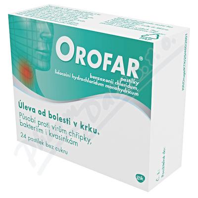 Orofar 1 mg/1mg pas. 24 CZ