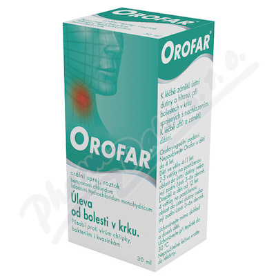 Orofar 2 mg/ml+1.5 mg/ml orm.spr.sol.1x30ml+apl CZ