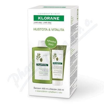 KLORANE XMAS Olivy Šampon 400ml+Balzám 200ml