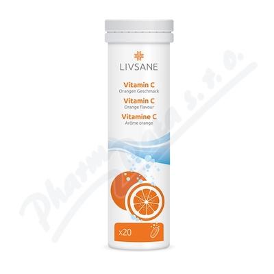 LIVSANE Šumivé tablety Vitamin C pomeranč 20ks