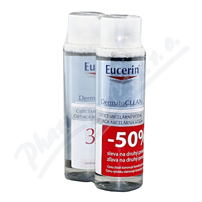 EUCERIN DermatoCLEAN mic. voda 3v1 DUOPACK 2x400ml