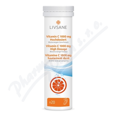LIVSANE Šumivé tablety Vitamin C 1000mg 20ks
