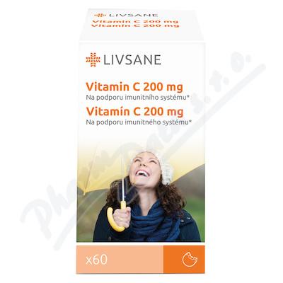 LIVSANE Vitamín C 200mg tablety 60ks