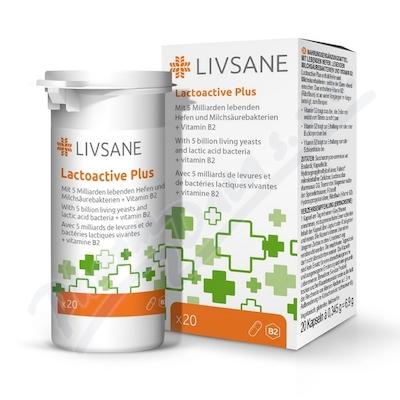 LIVSANE Laktoaktivní kapsle plus vitamín B2 20ks
