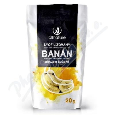 Allnature Banán sušený mrazem plátky 20 g