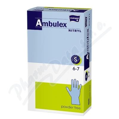 Ambulex Nitryl rukavice nitril.nepudrované S 100ks