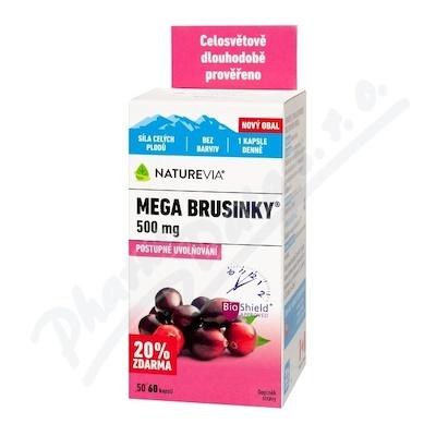 Swiss NatureVia Mega brusinky cps.50+10