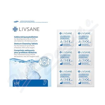 LIVSANE Čisticí tablety na zubní protézy 30 ks
