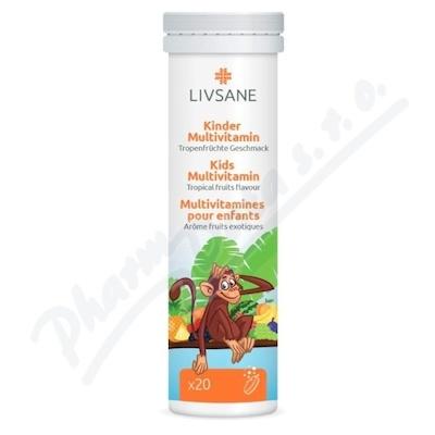 LIVSANE Šumivé tablety Multivitamín pro děti 20 ks
