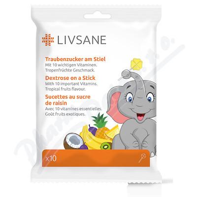 LIVSANE Bonbóny Hroznový cukr lízátka 10ks