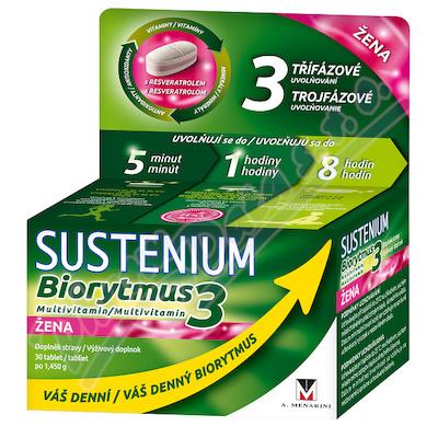 Sustenium Biorytmus 3 multivitamin ŽENA tbl.30