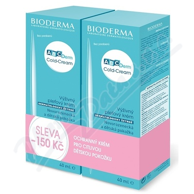 BIODERMA ABCDerm Cold-Cream 40ml+40ml výhodné bal.