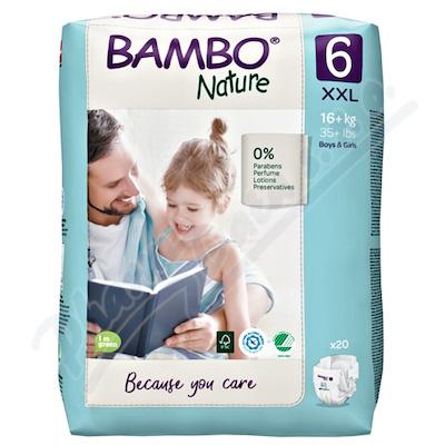 Bambo Nature 6 děts.plenkové kalhotky 16+ kg 20ks