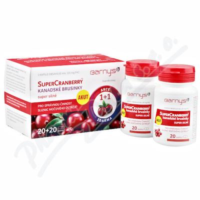 Barnys SuperCranberry brusinky cps.20+20 1+1ZDARMA