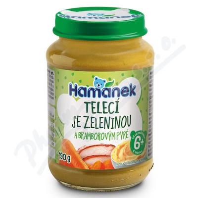 Hamánek Telecí se zeleninou a bramb.pyré 190g 6m+