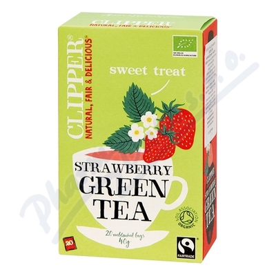 Čaj Clipper green tea with Strawberry flav.20x2g