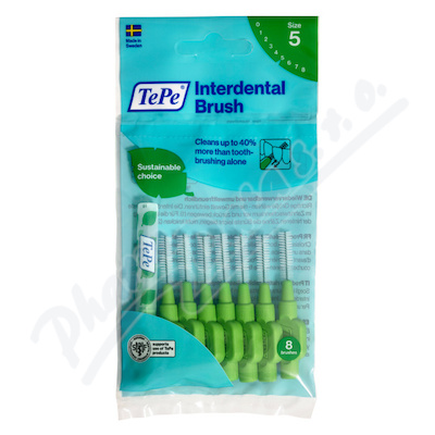 TePe mezizub.kartáčky zelené 0.8mm 8ks 113260
