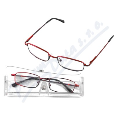 Brýle čtecí American Way +1.50 červené v etui