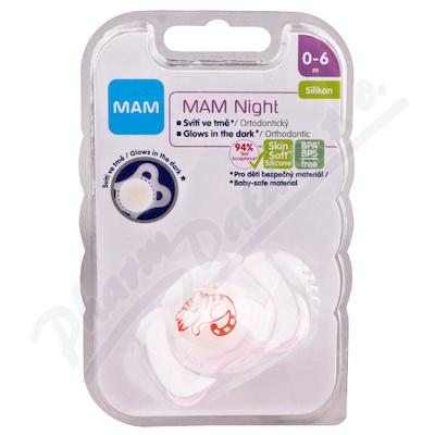 MAM Dudlík night 0-6měsíců silikon 1ks