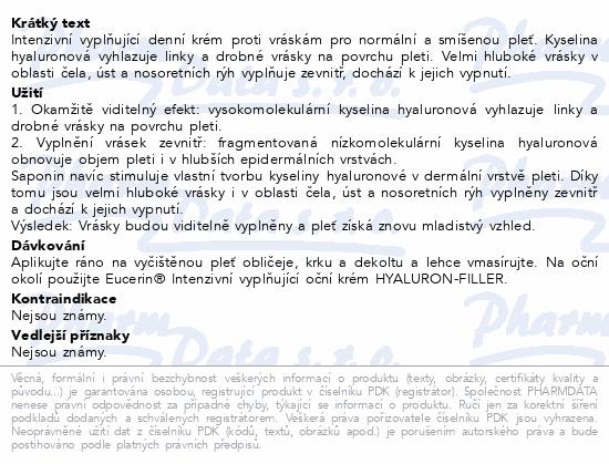 EUCERIN HYALURON-FILLER d.krém N/S pleť 50ml 63924