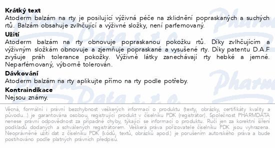 BIODERMA Atoderm Balzám na rty 15 ml