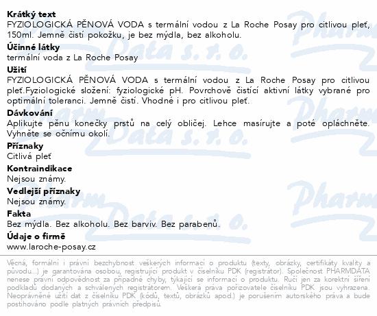 LA ROCHE-POSAY Eau Moussante 150ml