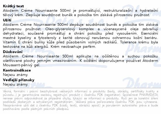 BIODERMA Atoderm Krém 500 ml