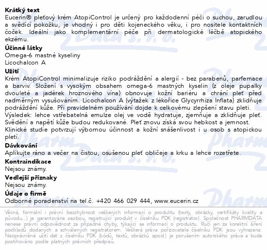 EUCERIN AtopiControl pleť.krém suchá zarud.p. 50ml