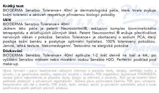 BIODERMA Sensibio Tolerance+ 40 ml