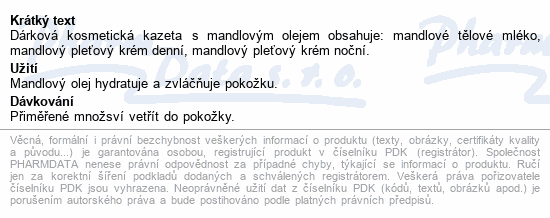 Body Tip MANDLOVÁ dár.kazeta těl.ml.+noč.+den.krém