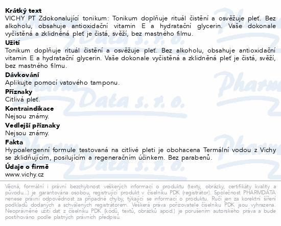 VICHY Pureté Thermale Osvěžující tonikum R15 200ml
