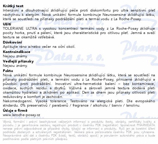 LA ROCHE-POSAY Toleriane ULTRA oční 20ml