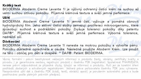 BIODERMA Atoderm Sprchový krém 1 l