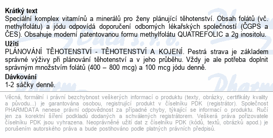 FERTIPRONA - Inositol a Metylfolát 30 sáčků