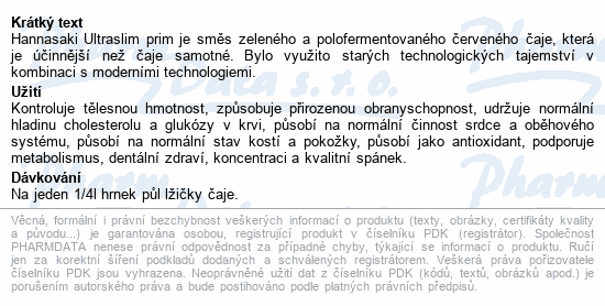 Hannasaki Ultraslim prim 75g