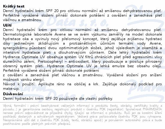 AVENE Hydrance Lehký hydratační krém SPF20 40ml