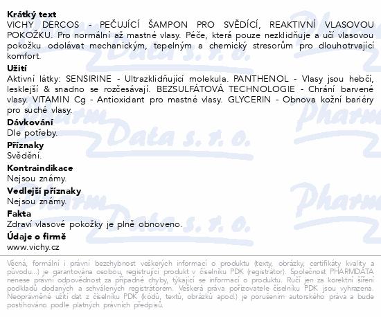 VICHY Dercos Sensitive gras 200 ml