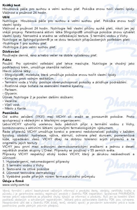VICHY Nutrilogie 2 krém PTS 50ml