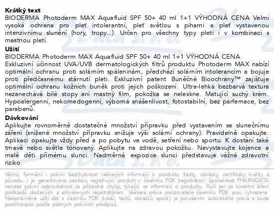 BIODERMA Photoderm MAX Aquafluid SPF50 40ml 1+1