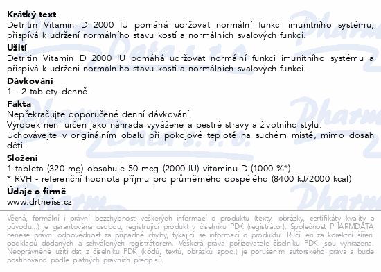 Detritin 2000 IU Vitamin D3 60 tablet