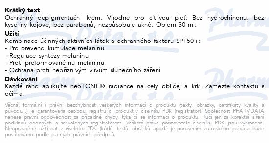ISISPHARMA NeoTone Radiance krém SPF50+ 30ml