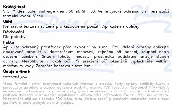 VICHY Ideál Soleil ANTI-AGE SPF 50+ T50ml R18