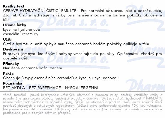 CERAVE Hydratační čisticí emulze 236ml