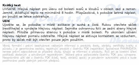 LIVSANE Hřejivá náplast 2 ks