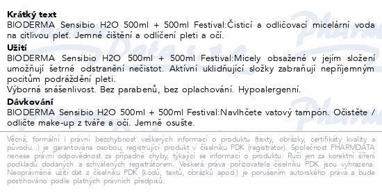 BIODERMA Sensibio H2O 500 ml 1+1 (FESTIVAL)